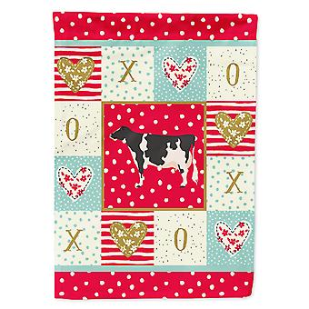 Carolines Treasures  CK5249CHF Holstein Cow Love Flag Canvas House Size