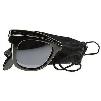 Rajoitettu painos taitto taitto kompakti tasku Horn rimmed aurinko lasit 8377 + pussi
