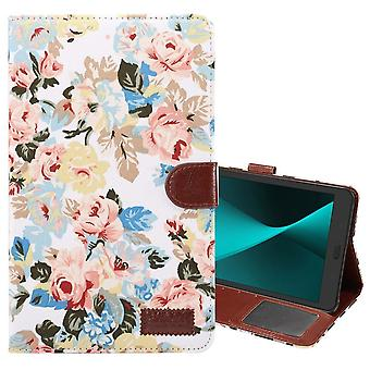 For Samsung Galaxy Tab A 8.0 SM-T380,T385 Case,Flower Cloth Leather Cover