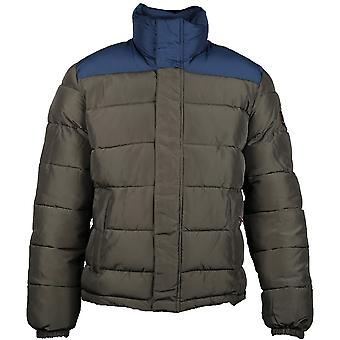 Caterpillar Mens Station Insulated Contrast Padded Bomber Jacket Coat