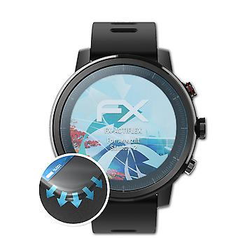 atFoliX 3x Protective Film compatible with Amazfit Stratos 2 Screen Protector clear&flexible