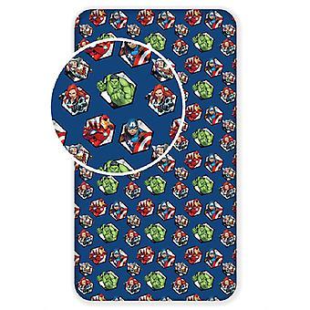 Avengers Single Fitted Sheet - Azul Marino