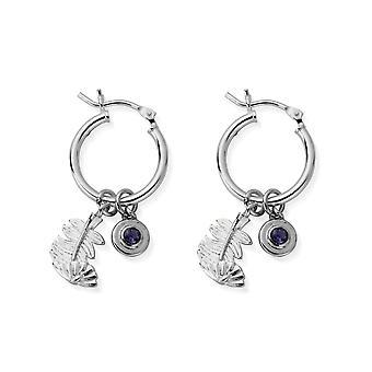 ChloBo Silver & Iolite Blessed Be Hoop Earrings