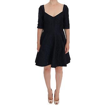 Rochie Dolce & Gabbana Negru Albastru Brocart Shift Shift