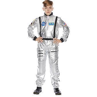 Traje de niño astronauta Plata