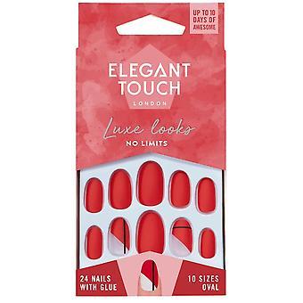 Elegante Touch Luke ziet er valse nagels collectie - Geen grenzen (24 nagels met lijm)