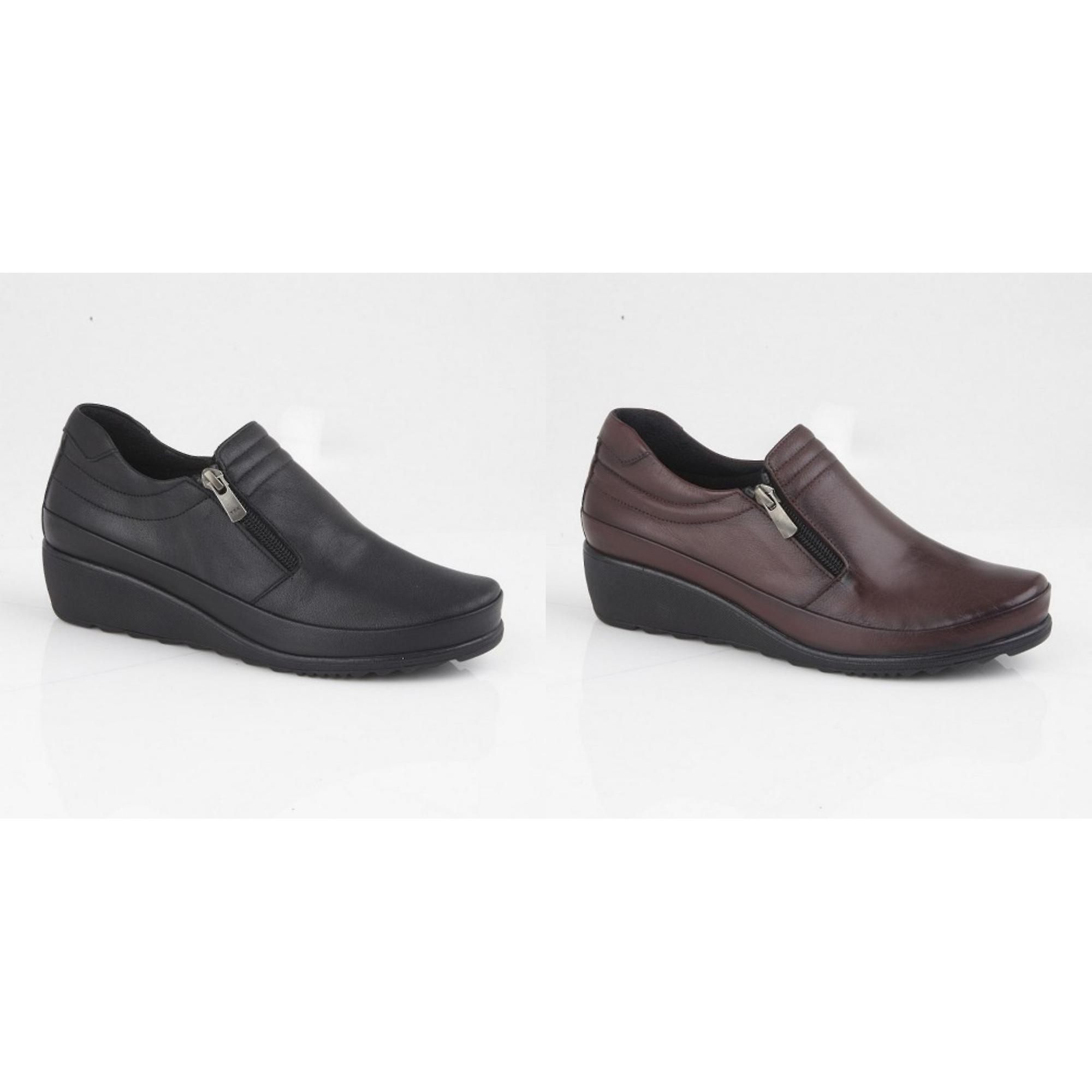 Mod Comfys Womens/Ladies Zipped Gusset Casual Leather Shoe pJM3d