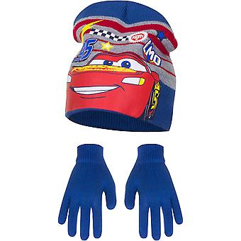 Disney cars boys hat and gloves set mcqueen lmq