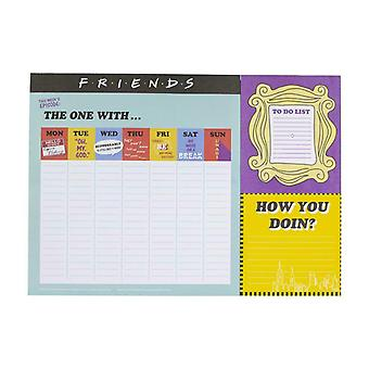 Amis TV Sitcom A3 Desk Planner Note Book Organisateur Study Office To Do List