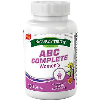 Nature's truth abc complete women's multivitamin, coated caplets, 100 ea
