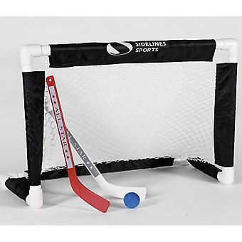 Sidelines Mini Hockey Goal Set with Ball and 2 x Racket