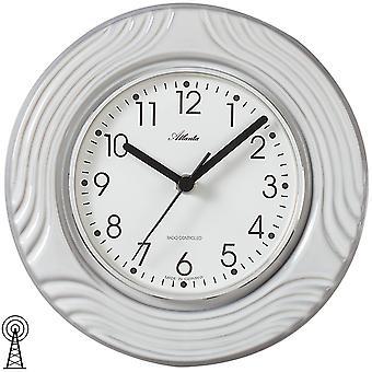 Atlanta 6021 kitchen clock wall clock kitchen radio radio controlled wall clock analog grey white ceramic