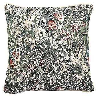William morris golden lily cushion cover | tapestry cushions 18x18 inch | ccov-glily