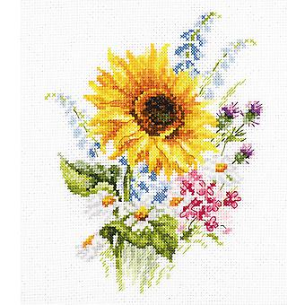 Alisa Cross Stitch Kit - Bouquet With Sunflower