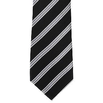 Michelsons College London paski Jedwabny krawat - czarny