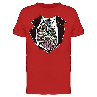 Suit Skeleton Ribs Bones Men's T-shirt