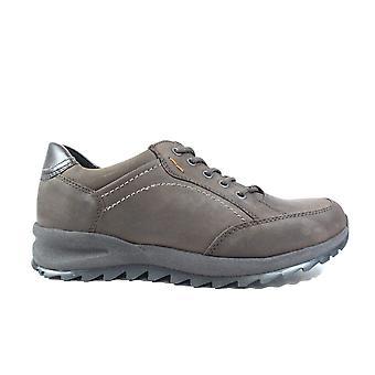 Waldläufer 388951 744 216 bruin nubuck leer mens Wide fit Lace up casual schoenen