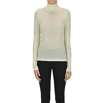 Ami Paris Ezgl510001 Women's Bege Cotton Sweater