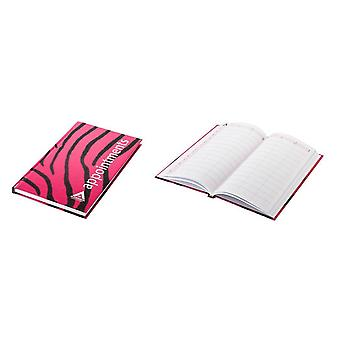 Agenda appointment book 3 assistant zebra print