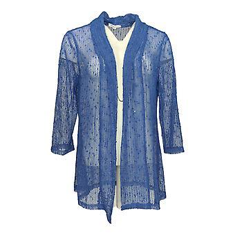 Serengeti Women's Sweater Open Front Shrug Periwinkle Blue