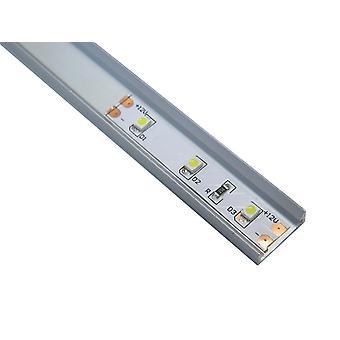 Jandei Profilo Alluminio Led Strip 2 Metri Superficie con Tappi traslucidi 12.3x6.08mm