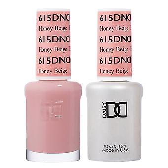 DND Duo Gel & Nail Polish Set - Honey Beige 615 - 2x15ml