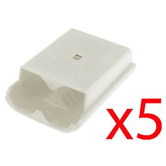 5x Xbox 360 Wireless Controller White Battery Back Cover Pack Replacement Part