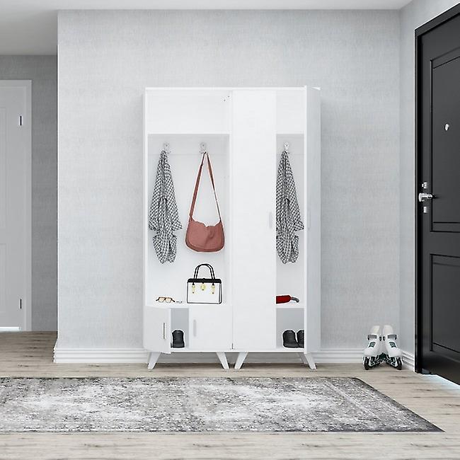 Entrée mobile Turkuaz Couleur blanche en puce, plastique, métal 60x35x194 cm
