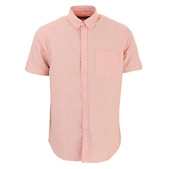 Men's Ben Sherman Oxford Kurzarm Shirt in Orange