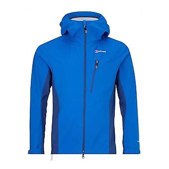Berghaus Taboche Мужчины ветрозащитная водонепроницаемая мягкая скорлупа Полный Зип куртка пальто синий