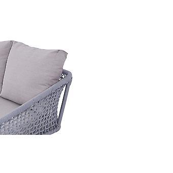 Lanová pohovka Diva 136 cm - hodvábna sivá