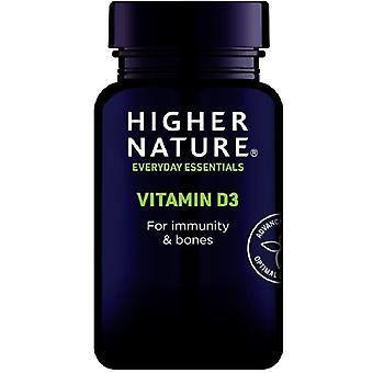 Korkeampi luonto D-vitamiini 500iu Softgels 60 (DV5060)