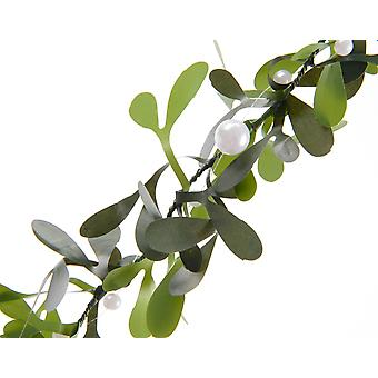 1.5m Artificial Mistletoe Garland with Pearl Beads for Christmas Floristry