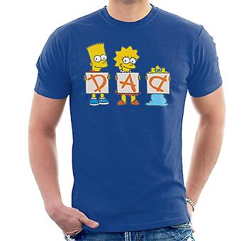 The Simpsons Dad Letters Men's T-Shirt