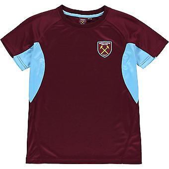 Source Lab West Ham United T Shirt Junior Boys