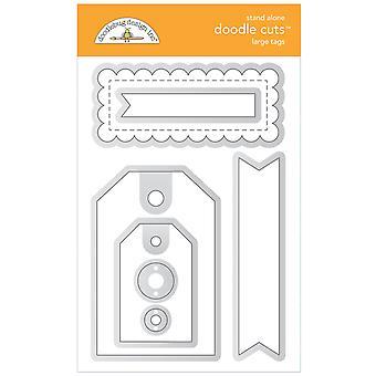 Doodlebug Design Suuret tunnisteet Doodle Leikkaukset