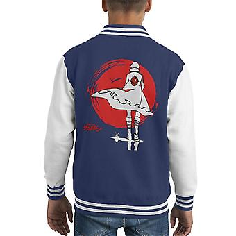 Simon The Digger Sunset Black Gurren Lagann Kid's Varsity Jacket