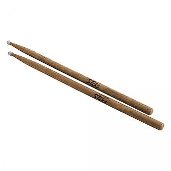 AHN5A, American Hickory Drum Sticks (5A, Nylon Tip, 12pr)