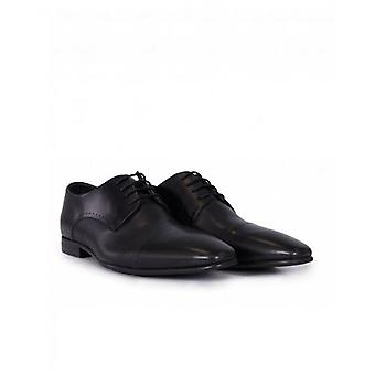 Paolo Vandini Patent Leather Toe Cap Shoes