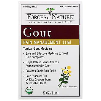Forces of Nature, Gout Pain Management, 0.37 oz (11 ml)