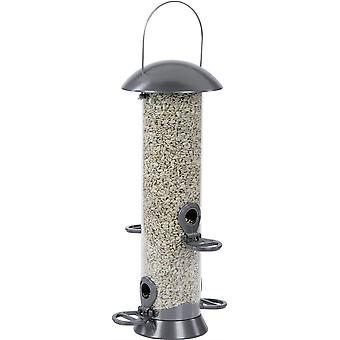 CJ Adventurer Metal Seed Feeder - Gunmetal 4 Port - Medium (40cm)