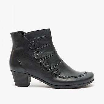 Gabor Georgie Ladies Leather ankel støvler svart