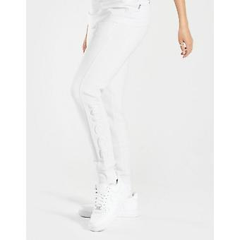 New Nicce Women's Embroidered Fleece Joggers White