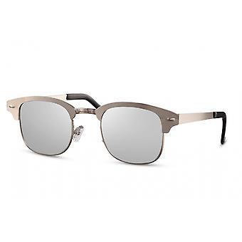 Okulary przeciwsłoneczne Unisex panto halbrandlos cat.3 srebrny/srebrny