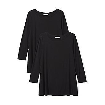 Brand - Daily Ritual Women's Jersey 3/4-Sleeve Bateau-Neck Swing T-Shi...
