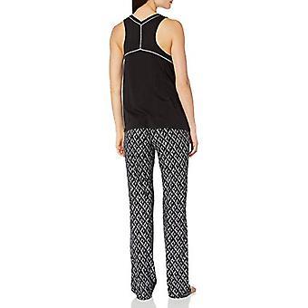 Merk - Mae Women's Sleepwear Swing Tank Pyjama Set, Geo Print, Large