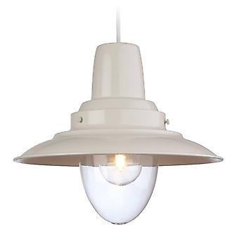 Firstlight Fisherman - 1 Light Dome Ceiling Pendentif Cream, Clear Glass, E27
