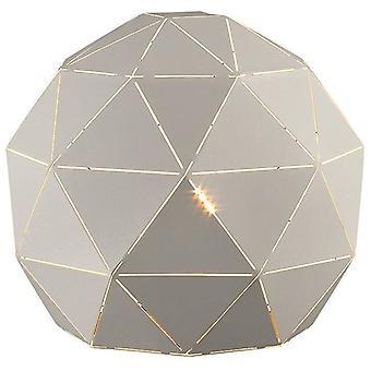 1 Licht tafellamp wit, E27