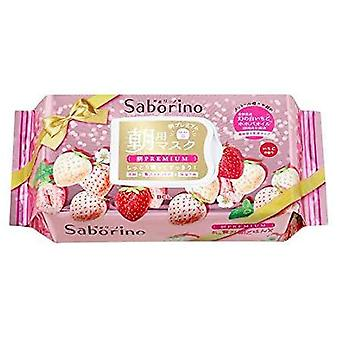 BCL Saborino Premium face mask 28 sheets White strawberries