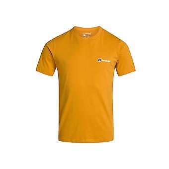 Berghaus Corporate Logo Mens Short Sleeve Outdoor T-Shirt Tee Orange